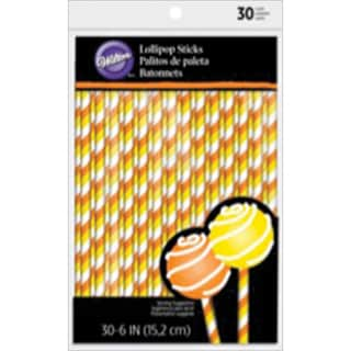 Lollipop Sticks 30/PkgCandy Corn