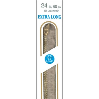 Extra Long Metal Zipper 36inDogwood