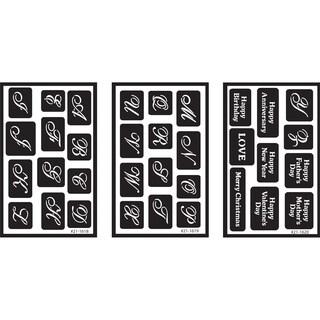 Over 'N' Over Reusable Stencils 5inX8in 3/PkgAlphabet