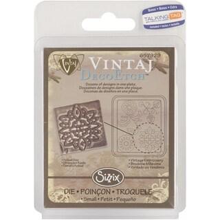 Sizzix DecoEtch Die 2.625inX2.375inVintage Embroidery By Vintaj