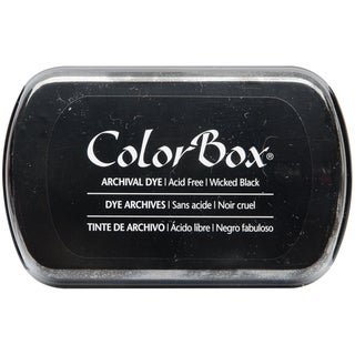 ColorBox Archival Dye Full Size Ink PadWicked Black