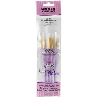 Crafter's Choice Fabric Paint Soft Brush Set4/Pkg