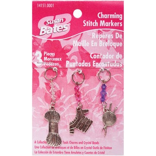 Charming Stitch Markers2in 3/Pkg