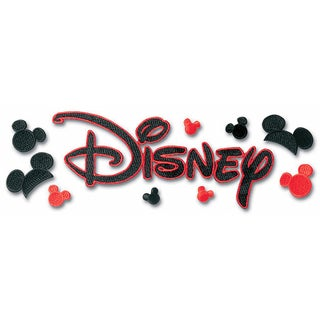 Disney Title Dimensional StickersEmbroidered Disney