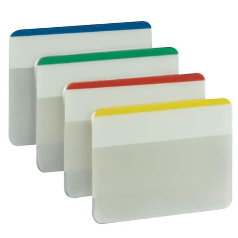 PostIt Durable Filing Tabs 2inX1.5in 24/PkgAssorted Neon Colors
