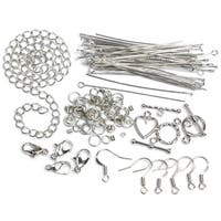 Jewelry Basics Metal Findings 134/PkgSilver Starter Pack