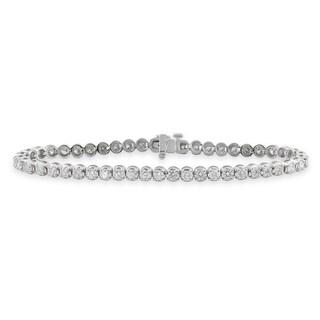 Auriya 14k Gold 3ct TDW Round Diamond Tennis Bracelet (G-H, SI1-SI2)