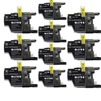 Brother LC75 BK Compatible Inkjet Cartridge for DWMFCAN-J6910 DWMFCAN-J825 DWMFCAN-J835DW (Pack of 10)