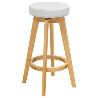 Mod Made Rex Wood Swivel Counter Mid-century Style 26-inch High Stool (3 options available)