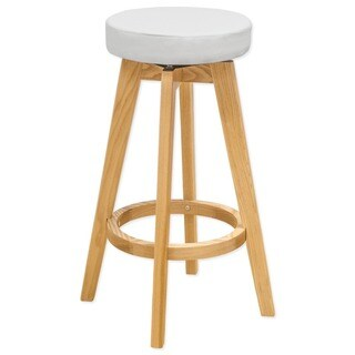 Mod Made Rex Wood Swivel Counter Mid-century Style 26-inch High Stool