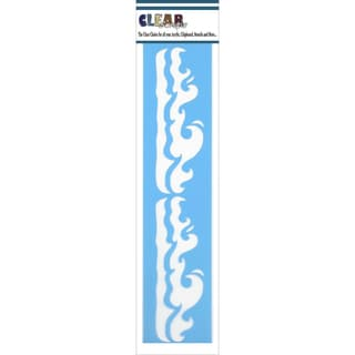 Clear Scraps Border Stencils 3inX12inWaves