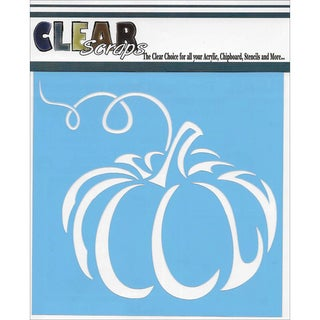 Clear Scraps Stencils 6inX6inPumpkin