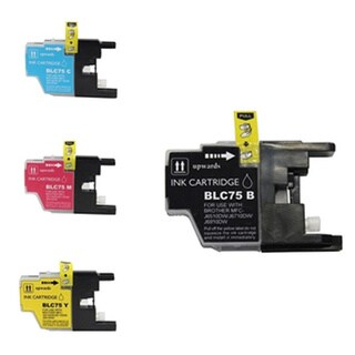 Brother LC75 (B C Y M) Compatible Inkjet Cartridge for DWMFCAN-J6910 DWMFCAN-J825 DWMFCAN-J835DW (Pack of 4)