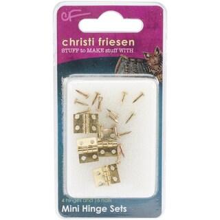 Christi Friesen Mini Hinges 4/PkgBrass