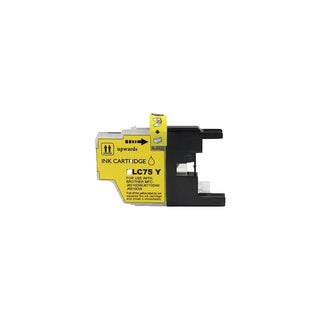 Brother LC75 Y Compatible Inkjet Cartridge Fo WMFCAN-J6510 DWMFCAN-J6710 DWMFCAN-J6910 DWMFCAN-J825 DWMFCAN-J835DW (Pack of 1)