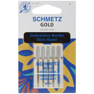 Gold Embroidery Machine NeedlesSize 14/90 5/Pkg