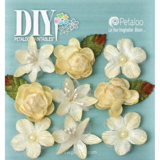 DIY Paintables Textured Mini Blossoms 1in 9/PkgIvory