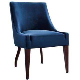 Dover Blue Velvet Chair (Set of 2)
