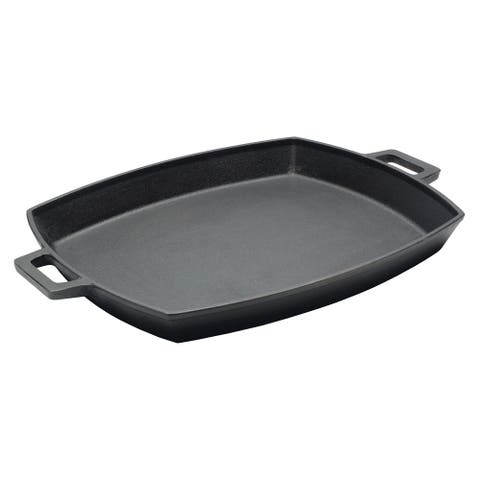 Bayou Classic® 14 x 12-in Shallow Cast Iron Pan