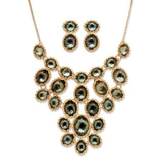 PalmBeach Goldtone Bold Fashion Grey Fashion Jewelry Set