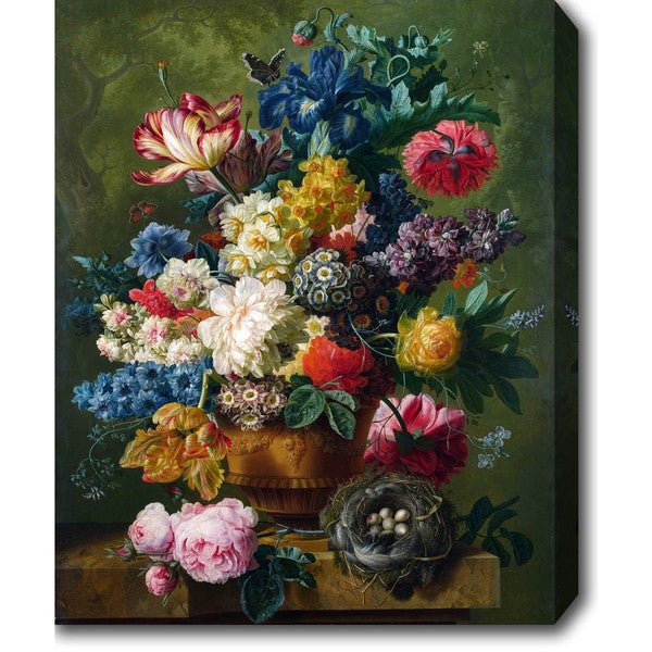 Flowers In A Vase Oil On Canvas Art Free Shipping Today