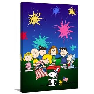 Marmont Hill - Peanuts Fourth of July Peanuts Print on Canvas