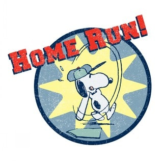 Marmont Hill - Home Run! Peanuts Print on Canvas