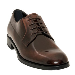 Tod's Polished Leather Lace-Up Oxfords