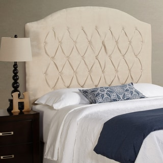 Humble + Haute Halifax Tall Full Size Ivory Velvet Arched Upholstered Headboard