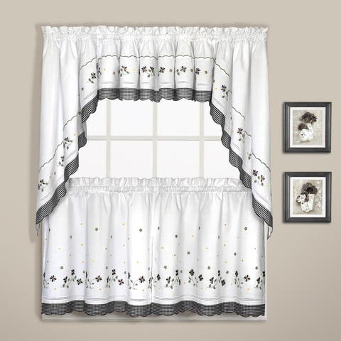Luxury Collection Gingham Light-Filtering Straight Valance