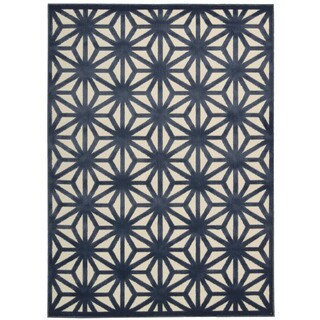 Nourison Ultima Ivory Blue Rug (3'6 x 5'6)