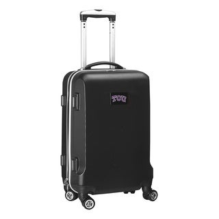 Denco Sports NCAA TCU Horned Frogs 20-inch Carry-on Spinner Upright Suitcase