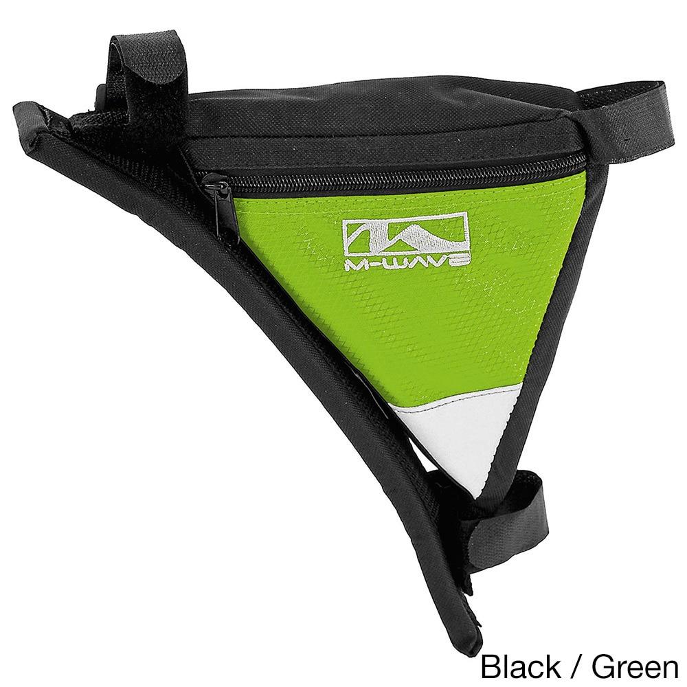 M-Wave Rotterdam Shoulder Frame Bicycle Bag (Black/Green)