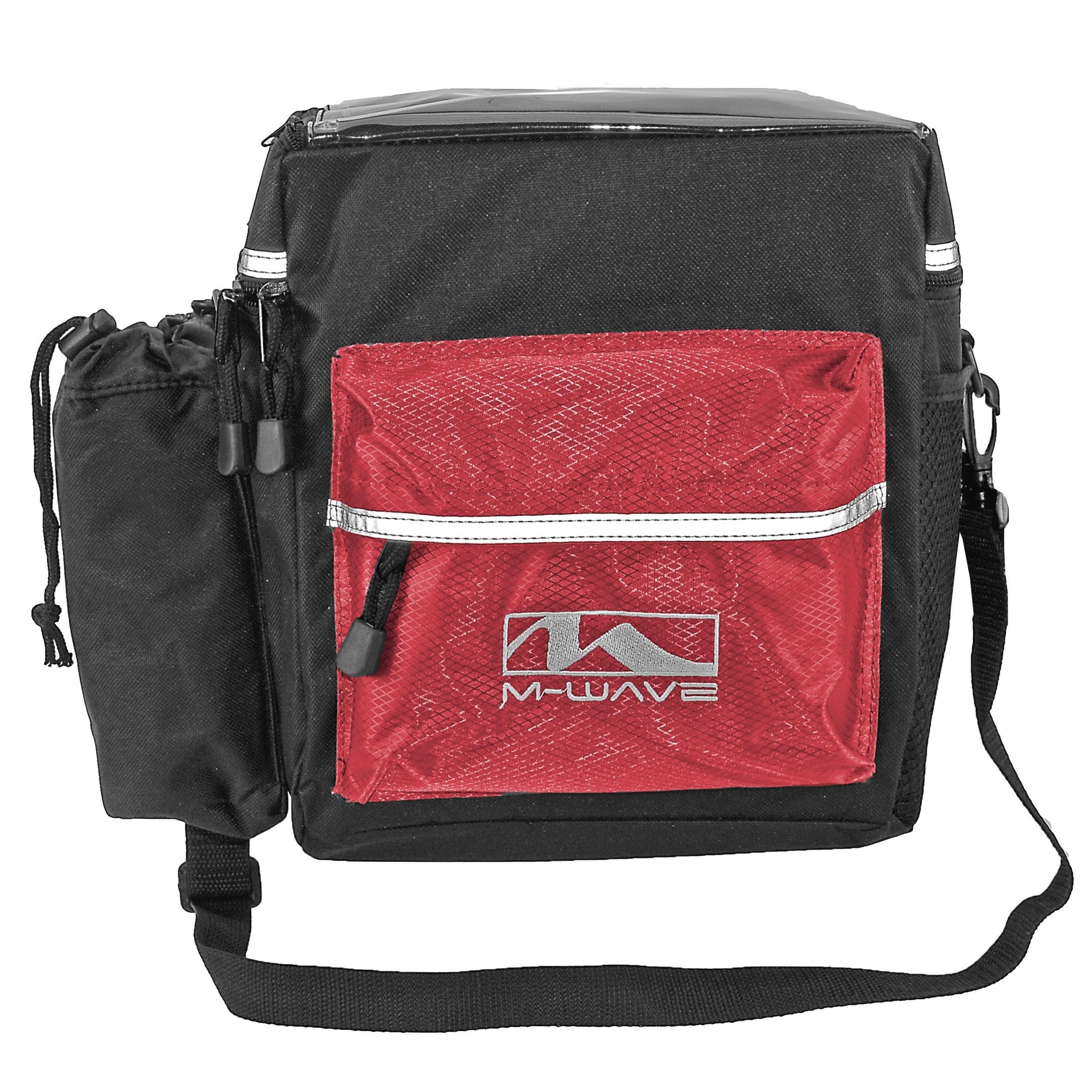 M-Wave Utrecht Handlebar Bicycle Bag (Black/Red)