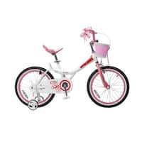 Royalbaby Jenny Princess Pink 18-inch Girl's Bike with Training Wheels and Basket
