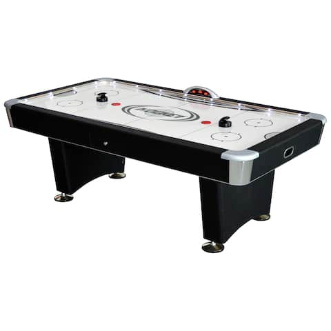 Stratosphere 7.5-foot Air Hockey Table with Music Docking Station - Black