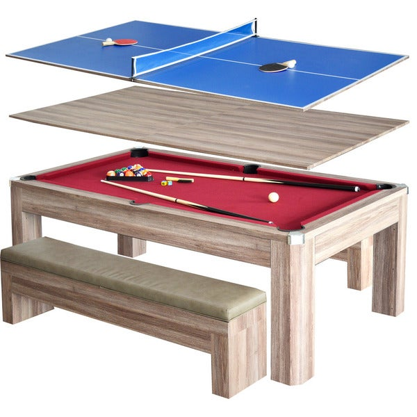 Newport 7 Foot Pool Table Combo Set With Benches