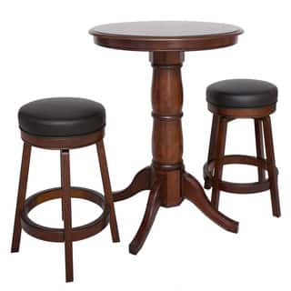 Oxford 3 Piece Hardwood Pub Table Set - Walnut Finish|https://ak1.ostkcdn.com/images/products/10510931/P17582226.jpg?impolicy=medium