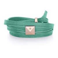 Glass Leather Bracelets