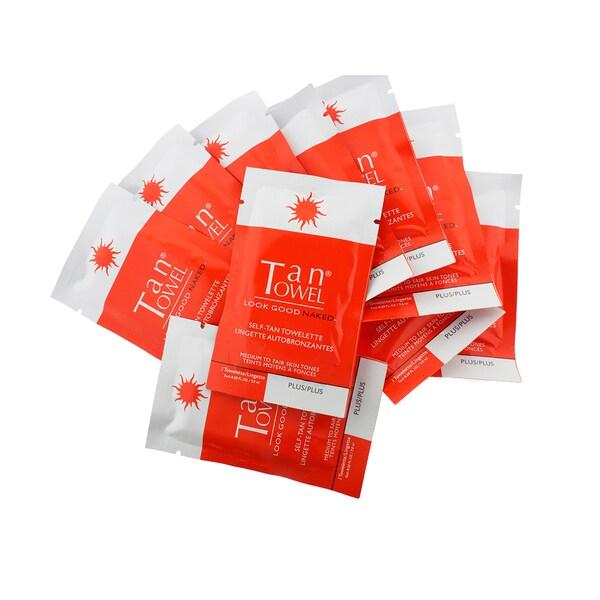 Tan Towel Plus Half-body Self-tan Towelettes (Pack of 10). Opens flyout.