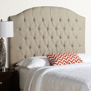 Humble + Haute Halifax Tall Full Size Beige 100-percent Linen Arched Upholstered Headboard