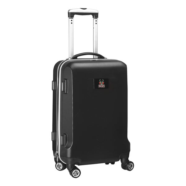 Denco Sports NBA Milwaukee Bucks 20-inch Hardside Carry On Spinner Upright Suitcase