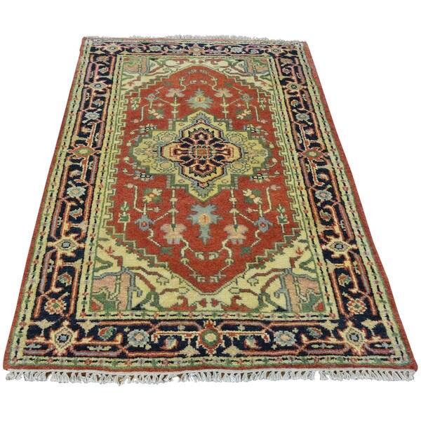 Shop Rust Red Serapi Heriz 100 Percent Wool Handmade Oriental Rug 3