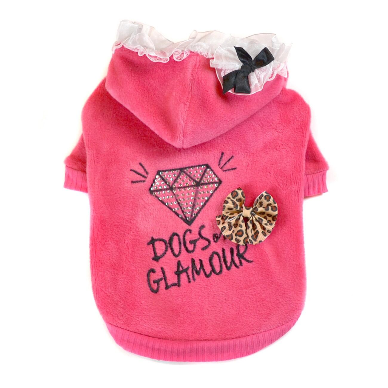 Dogs of Glamour Girly Diamond Hoodie (Medium Black Girly ...