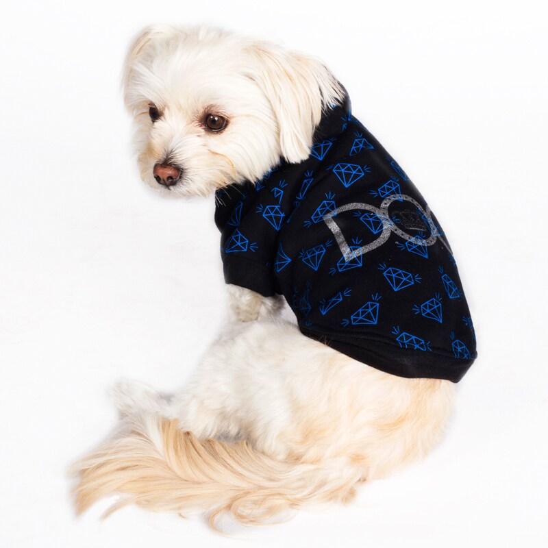 Dogs of Glamour Diamond Repeat Hoodie (Large Diamond Repe...