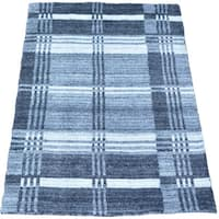 Handmade Modern 100 Percent Wool Oriental Rug - 1'10 x 2'10