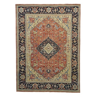Antiqued Heriz Recreation Hand Knotted Oriental Rug (8'10 x 12')