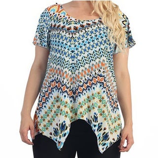 Ella Samani Women's Plus Size Abstract Print Top