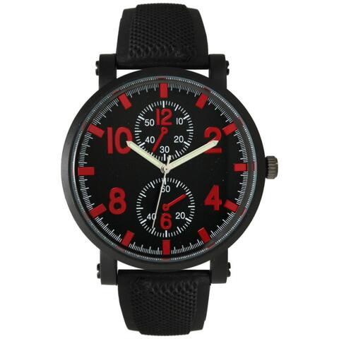 Olivia Pratt Men's Sporty Silicone Watch