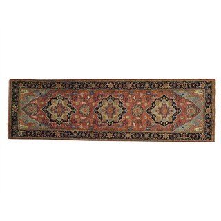 Runner Antiqued Heriz Recreation Handmade Oriental Rug (2'7 x 8'5)